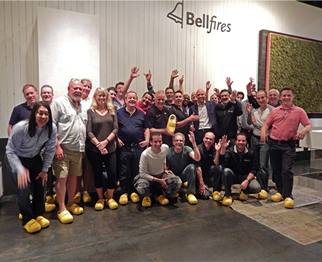NEE 2016 trip to factory in Netherlands for 23 Canadian dealers.