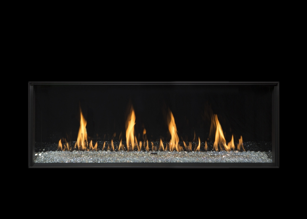 The gas fireplace featured in our virtual fireplace channel.